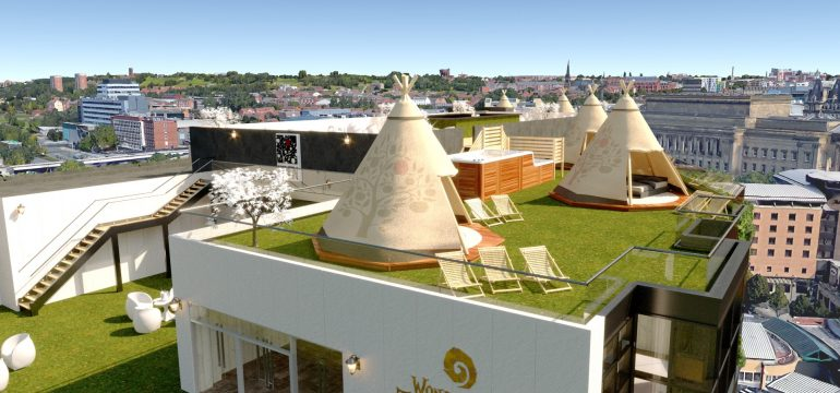tipi pool party venue - Liverpool